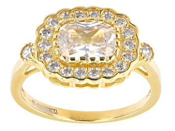 Picture of White Cubic Zirconia 18K Yellow Gold Over Sterling Silver Ring 2.83ctw