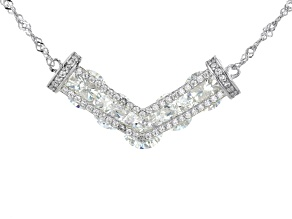 White Cubic Zirconia Rhodium Over Sterling Silver Necklace 6.91ctw
