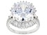 White Cubic Zirconia Rhodium Over Sterling Silver Ring 18.02ctw