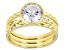 White Cubic Zirconia 18k Yellow Gold Over Sterling Silver Ring Set 3.46ctw