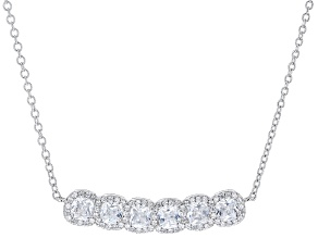 White Cubic Zirconia Rhodium Over Sterling Silver Necklace 2.74ctw