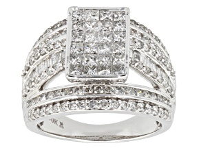 Diamonds 10k White Gold Ring 2.50ctw