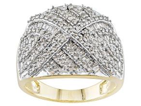 Diamond 10k Yellow Gold Ring 1.50ctw