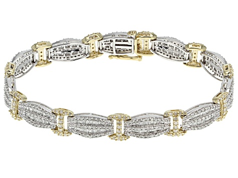Diamond 10k Two Tone Bracelet 4 50ctw