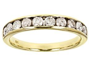 Diamond 10k Yellow Gold Band .75ctw