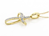 White Diamond 10k Yellow Gold Pendant 0.14ctw