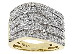 Diamond 10k Yellow Gold Band 1.65ctw