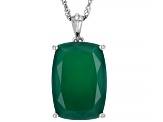 Green Onyx Rhodium Over Sterling Silver Ring, Stud Earrings And Necklace Set
