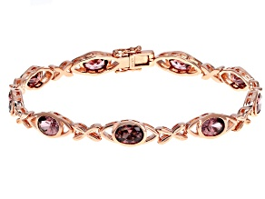 Blush Zircon Simulant 18K Rose Gold Over Sterling Silver Bracelet 8.00CTW
