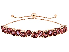 Blush Cubic Zirconia 18k Rose Gold Over Silver Adjustable Bracelet 15.75ctw