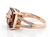 Blush Zircon Simulant And White Cubic Zirconia 18K Rose Gold Over Sterling Silver Ring 6.00ctw