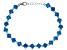 Blue Cubic Zirconia Rhodium Over Sterling Silver Bracelet 30.71ctw