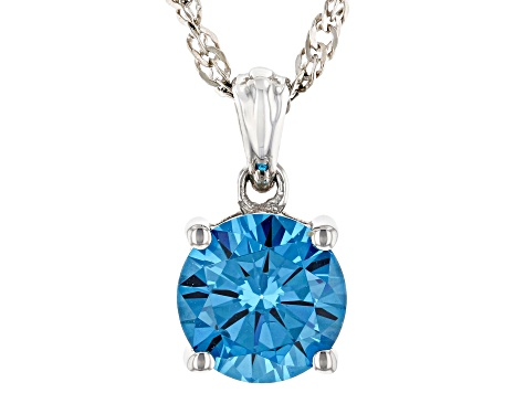 Blue Cubic Zirconia Rhodium Over Sterling Silver Jewelry Set 10.35ctw