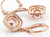 Pink Morganite Simulant And Mocha And White Cubic Zirconia 18k Rose Gold Over Silver Earrings