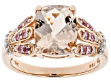 Pink Morganite 10k Rose Gold Ring 2.69ctw