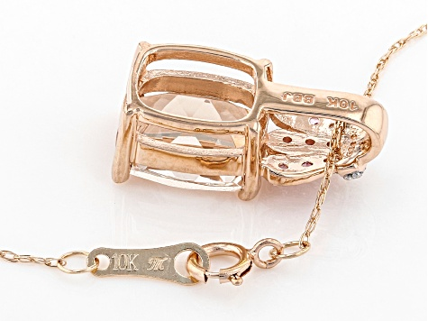 Pink Morganite 10k Rose Gold Pendant With Chain 2.56ctw