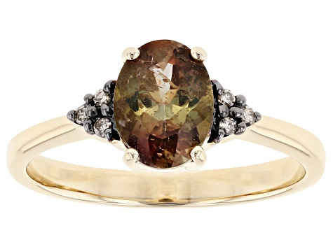 Green Andalusite 10k Yellow Gold Ring 1.02ctw