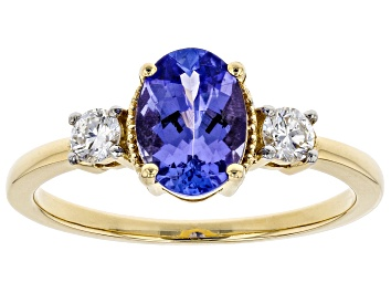 Picture of Blue Tanzanite 14k Yellow Gold Ring 1.47ctw