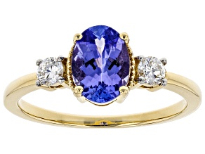 Blue Tanzanite 14k Yellow Gold Ring 1.47ctw