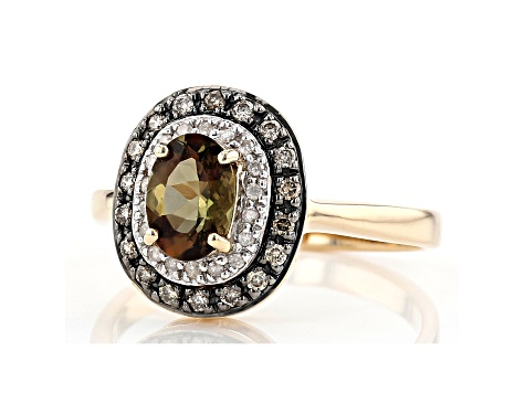 Green Andalusite 10k Yellow Gold Ring .79ctw
