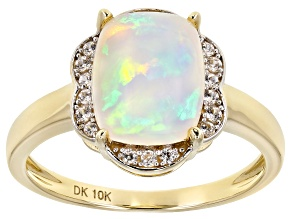 Multi Color Ethiopian Opal 10k Yellow Gold Ring 2.00ctw