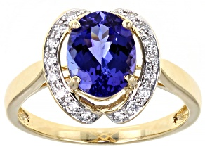 Blue Tanzanite 14k Yellow Gold Ring 1.79ctw