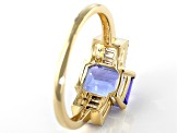 Blue Tanzanite 14k Yellow Gold Ring 1.55ctw