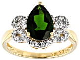 Green Russian Chrome Diopside 10k Yellow Gold Ring 2.33ctw