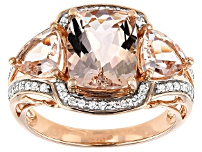 Pink Morganite 10k Rose Gold Ring 3.86ctw