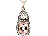 Pink Morganite 10k Rose Gold Pendant With Chain 3.22ctw