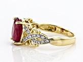 Red Mahaleo® Ruby 10k Yellow Gold Ring 3.16ctw