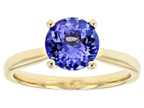 Blue Tanzanite 14k Yellow Gold Ring 1.65ct.