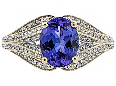 Blue Tanzanite 10k Yellow Gold Ring 1.77ctw