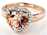 Pink Morganite 10k Rose Gold Ring 3.23ctw