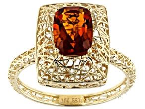Orange Madeira Citrine 10k Yellow Gold Ring 1.08ct