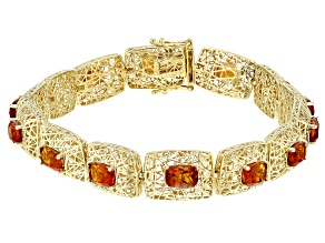 Orange Madeira Citrine 10k Yellow Gold Bracelet 5.95ctw