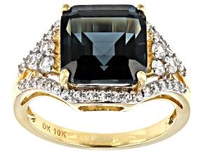 London Blue Topaz 10k Yellow Gold Ring 5.51ctw