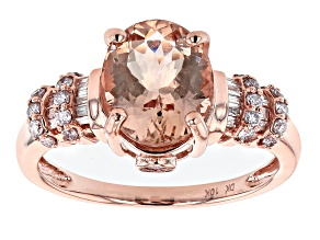Pink Morganite 10k Rose Gold Ring 2.42ctw