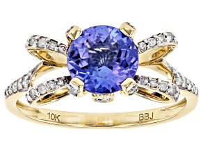 Blue Tanzanite 10k Yellow Gold Ring 1.39ctw