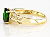 Green Russian Chrome Diopside 10k Yellow Gold Ring 1.93ctw