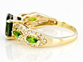 Green Chrome Diopside 10k Yellow Gold Ring 2.20ctw