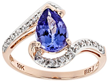Picture of Blue Tanzanite 10k Rose Gold Ring 1.25ctw