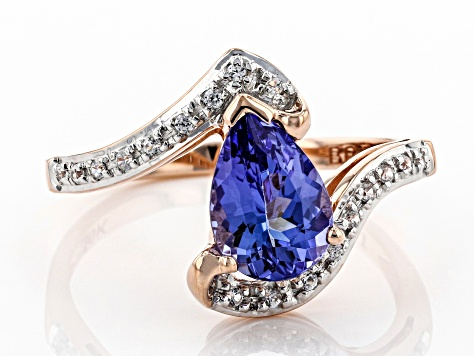 Blue Tanzanite 10k Rose Gold Ring 1.25ctw
