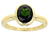 Green Russian Chrome Diopside 10k Yellow Gold Ring 1.90ct