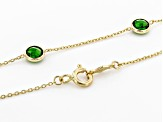 Green Chrome Diopside 14k Yellow Gold 9-Stone Necklace  2.70ctw