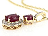 Red Mahaleo® Ruby 10k Yellow Gold Pendant With Chain 2.10ctw