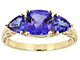 Blue Tanzanite 10k Yellow Gold Ring 2.22ctw
