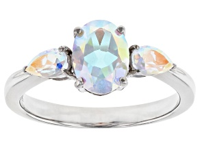 Mercury Mist® Topaz Rhodium Over 10k White Gold Ring 1.82ctw