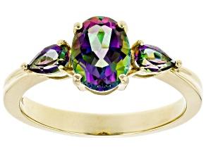 Green Mystic Fire® Topaz 10k Yellow Gold Ring