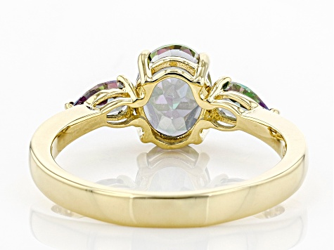 Green Mystic Fire® Topaz 10k Yellow Gold Ring